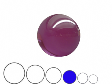 Jac Products Purple Translucent 75mm Acrylic Contact Ball